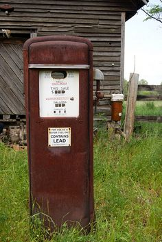 Vintage Gas Pump - This reminds me of the one my grandfather had on his farm, except his wasn't as rusty.