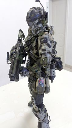 Armor Concept, Weapon Concept Art, Titanfall Cosplay, Tactical Armor, Military Action Figures, Military Special Forces, Futuristic Armour, Sci Fi Armor, Future Soldier