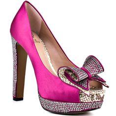 Cute as wedding shoes? Grady - Magenta Silver Satin