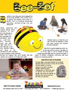 Download the Bee-Bot Product Sheet