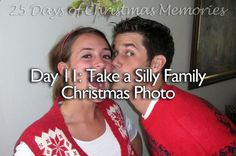 25 days of Christmas memories for your family! Some are really cute date ideas for Christmas!