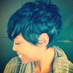 best Short Hairstyles for Black Womens 2014. If my hair was permed.... Cute and sophisticated! http://www.griphop.com/