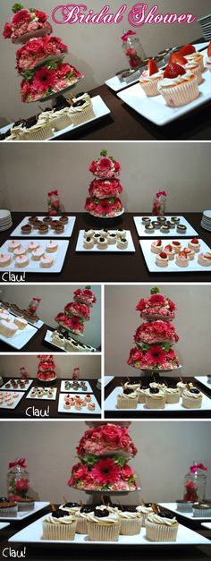 Dessert table for a Bridal Shower / Mesa de postres para despedida de soltera Desert Bar, Party Rock, Ideas Para Fiestas, Hens Night, Wedding Desserts, Cake Pops, Eye Candy, Bridal Shower, Christmas Tree