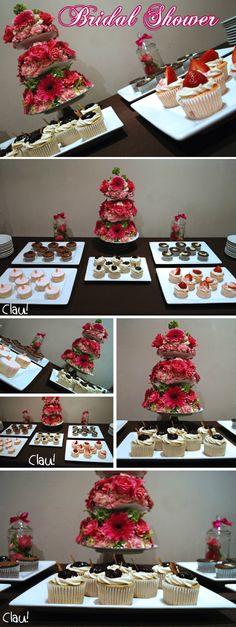 Dessert table for a Bridal Shower / Mesa de postres para despedida de soltera