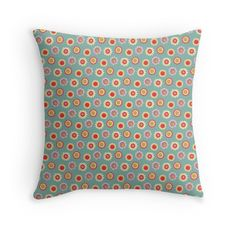 'oopsy daisy' Throw Pillow by Sandy Mitchell Daisy, Throw Pillows, Illustration, Pattern, House, Home Decor, Toss Pillows, Decoration Home, Home