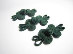 Decorative knot button closures  3 pairs small dark by TintinBeads