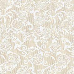 Spanish Lace Print Lokta Paper - White on Cream | via Papermojo.com