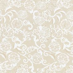 Spanish Lace Print Lokta Paper - White on Cream | via Papermojo.com