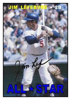 1967 Topps Jim Lefebvre All-Star, Los Angeles Dodgers, Baseball Cards That Never Were
