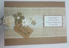 Natural kraft wedding card