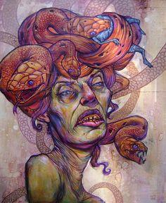 Ekundayo's Medusa, This is on my left shoulder/arm. I'm a sucker for Greek #mythology.