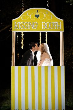 Obviously wouldn't use a kissing booth, but this seems pretty easy to make for a photo booth for ad's bday party Whimsical Wedding, Chic Wedding, Wedding Styles, Dream Wedding, Wedding Day, Wedding Photos, Reception Activities, Wedding Activities, Photos Booth