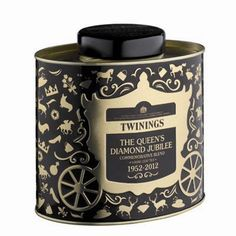 And here is the Twinings Diamond Jubilee Tin in black. This is probably the best looking of the lot.