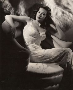 Gene Tierney (November 19, 1920 – November 6, 1991) was an American film and stage actress. Acclaimed as one of the great beauties of her day, she is best remembered for her performance in the title role of Laura (1944) and her Academy Award-nominated performance for Best Actress in Leave Her to Heaven (1945). [Wikipedia]
