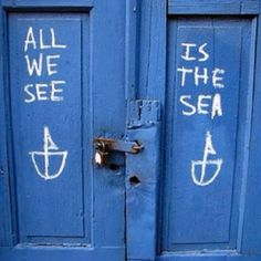 blue for front door. All I want to see is the sea!
