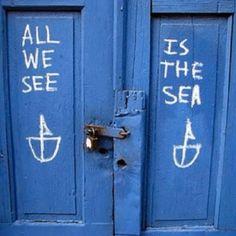 aegean blue greek door sign