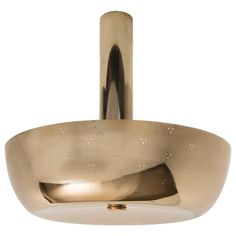 Paavo Tynell Large Brass Ceiling Light, 1950s   From a unique collection of antique and modern chandeliers and pendants at https://www.1stdibs.com/furniture/lighting/chandeliers-pendant-lights/