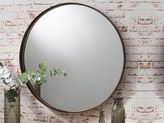 Greystoke Bronze Metal Round Mirror,Designer,Contemporary Circular Mirrors in London