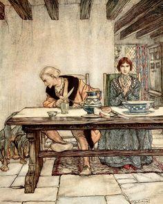 The Ballad of Lord Randall by Arthur Rackham. (vía 6a00e54fcf7385883401b8d1395e64970c.jpg) http://www.terriwindling.com/