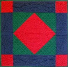 amish quilt | The simple beauty of an old Amish classic! Bold geometric patchwork is ...