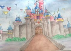 Disney Castle Taj Mahal, Castle, Disney, Projects, Painting, Travel, Art, Craft Art, Paintings