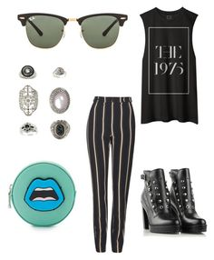 """""""70s"""" by mara-covino on Polyvore featuring Topshop, Diesel, Yazbukey e Ray-Ban"""
