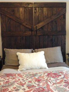 Barn Door Headboards by MaddensCloset on Etsy, $350.00