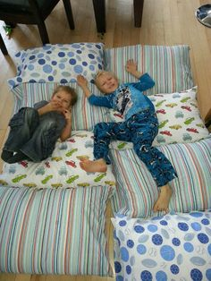 Diy Pillow Beds Mattress Super Easy Sew 4 Pillowcases Together