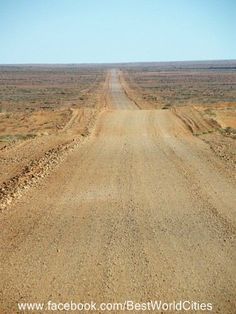The road to Coober Pedy opal mining outback Australian town.. (Pronounced cooper peedy).