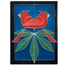 6x8 Cardinals Consorting, Male Motawi Tiles