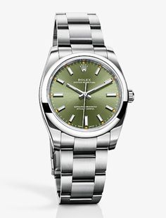 love the olive face on this classic rolex.