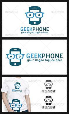 Geek Phone  - Logo Design Template Vector #logotype Download it here: http://graphicriver.net/item/geek-phone-logo-template/4712973?s_rank=686?ref=nexion