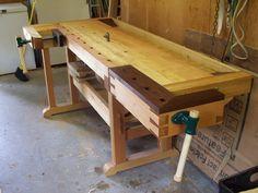 Scandavian Style Workbench - by RLindberry @ LumberJocks.com ~ woodworking community