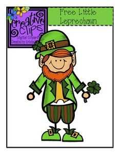 FREE Clipart! Here is a friendly little leprechaun for you to use in your St. Patrick's Day lessons and products! Color and black and white version included. Personal and commercial use :)