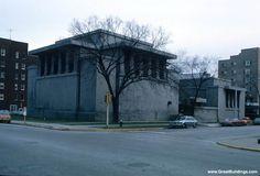 Unity Temple, Oak Park, Illinois  View from northwest