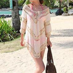 5f3eb84efd Fashion Sexy Solid Cotton Hollow Crochet Swimwear Uk For Women Swimsuit Uk For  Women Bikini Sun Beach Cover-up