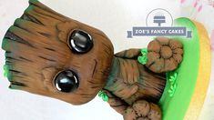 3D Baby Groot Cake Guardians of the Galaxy cakes - YouTube