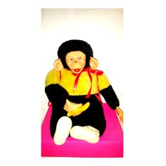 Vintage Rubber Face Monkey,Banana,Superior Toy and Novelty Co,Mr Bim,Zip,Zippy,Chimp,Monkey,Chimp Plushie,Rubber Face,Monkey Plush,1960s by JunkYardBlonde on Etsy #rubberface #plushie #chimp #mrbim #zippy #monkeyplush #vintagetoys #vintageplush #rubberfacemonkey #rubberfacechimp #superiortoy #bananamonkey #kitschycute #creepycute
