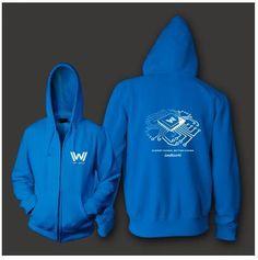 TV series Westworld zip up hoodie for men fleece hooded sweatshirts