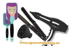 Pack Secador Pluma NEGRO + Plancha + Difusor Plegable + Cepillo