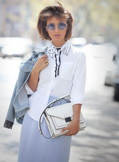denim jacket outfit, matthew williamson sunglasses, roeffler randall satchel…