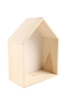 <p>It's your own little house that can sit next to your bed or hang on the wall. I look great in groups of two or more and perfect shape to keep your precious things safe. Made from natural coloured Plywood timber with a white painted back panel. I have a triangle wall hook attached and ready to hang.</p> <p>Dimensions- 20cm W x 26cm H x 10.5cm D.åÊ</p> <p>Composition- 100% Plywood.</p>