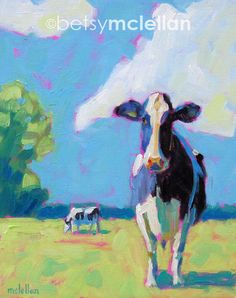 Cows  Cow Art  Cow Print  Matted Giclee by betsymclellanstudio, $19.00