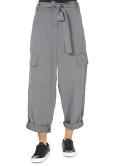 This is the superb 'Vana' Graphite Grey Cargo Pant by Annette Gortz! Featuring a loose fit, large pockets, and a belt.
