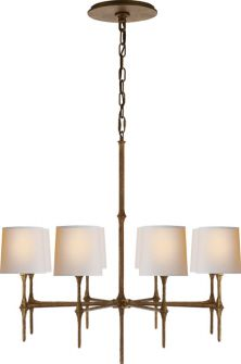 Come in and see our gorgeous Dauphine 8 light Chandelier in Gilded Iron with Natural Paper Shades by Visual Comfort.  www.surroundingshome.com