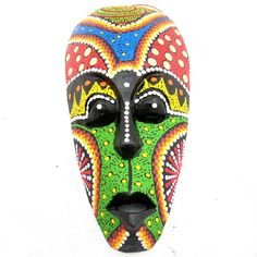 Thai Wood carving colorful masks