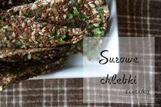 Surowe chlebki. #siemielniane #słonecznik #pestkidyni Herbs, Cooking, Desserts, Food, Kitchen, Tailgate Desserts, Deserts, Essen, Herb