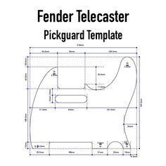 Fender Telecaster Pickguard Template Guitar Building Concrete Goos