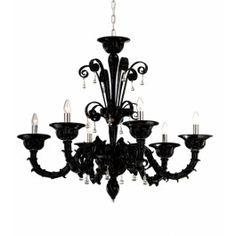 6 Lights Murano chandelier