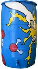Art and science collide on this rain barrel from Clarke Middle School.  Rain barrels are a great way to protect our water molecules!  2014